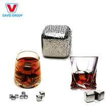 Metal Ice Cube Stainless Steel Whiskey Stone with Tong for Drink