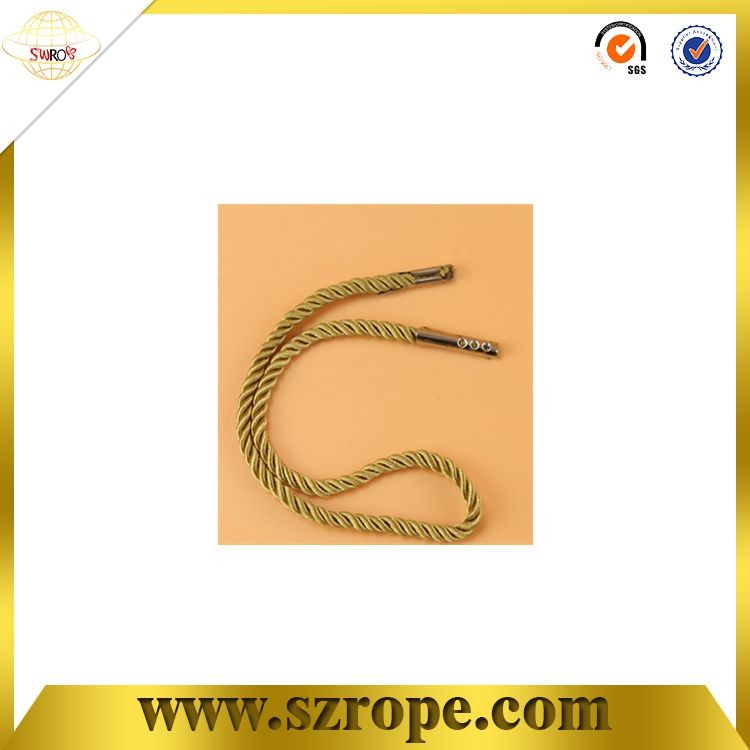 Handbag handle rope with metal barb or plastic barb .
