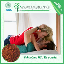 Sex drive powder material yohimbe bark extract Yohimbine HCL 8% 98%/CAS NO: 65-19-0
