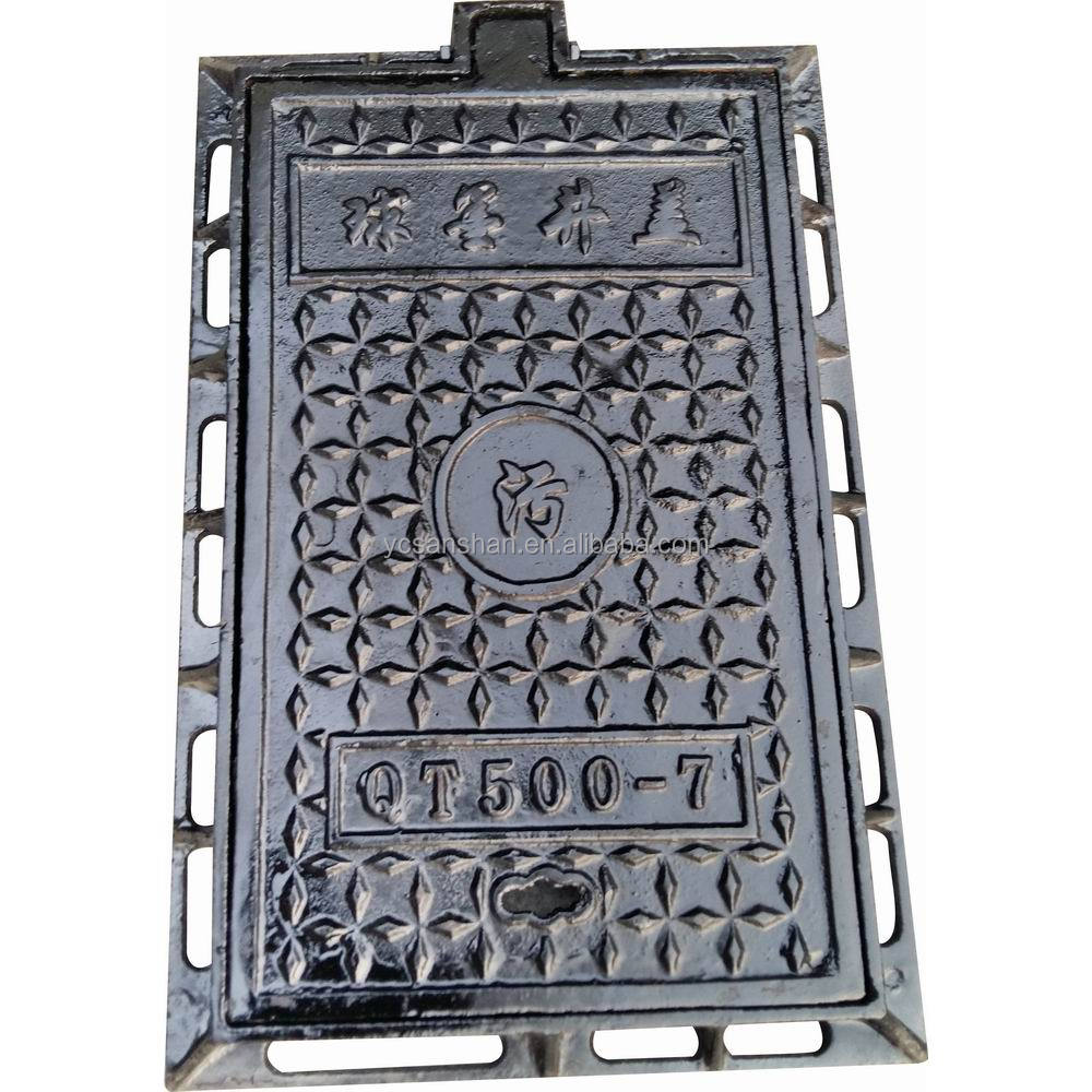 Ductile/cast iron manhole cover with frames