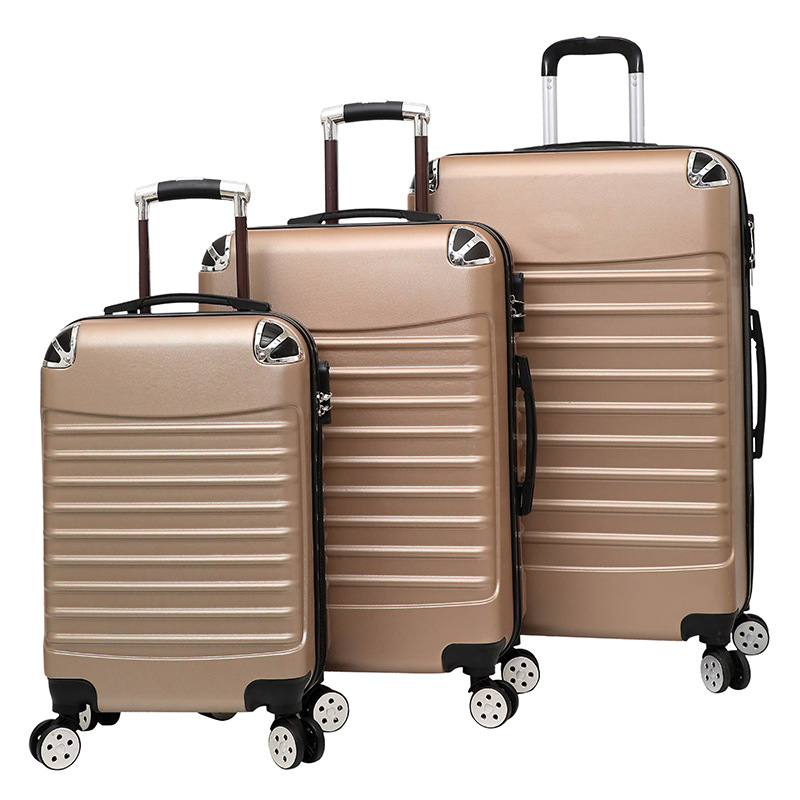 "wholesale 20"" 24"" 28"" abs luggage , wheeled suitcases, shop trolley luggage"
