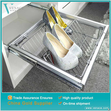 Closed portable corner stainless steel fabric model of closet revolving shoe rack