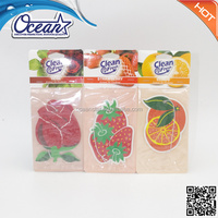 most fruits scents paper air freshener for car
