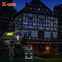RGB Star Laser Shower Laser Light Projector IP65 Waterproof Chrismas Docation Light