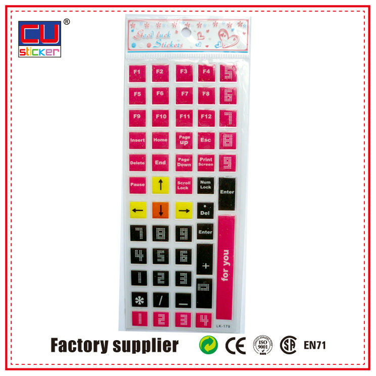 factory accept custom keyboard sticker for laptop skin, stickers Keypads keyboard stickre
