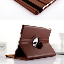 Wholesale Cheap Cost Rotation 360 Tablet PU Leather Case for iPad Air Mini Adjustable Stand Flip Case for iPad Pro Coffee Black