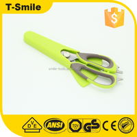 stainless steel multi function kitchen shear scissors with magnetic holder