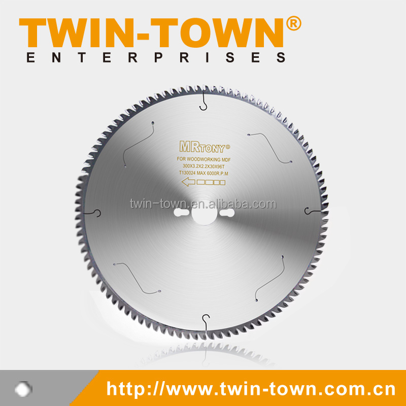 Laminated Panels / MDF Cutting / TCT Saw Blade 300x96T