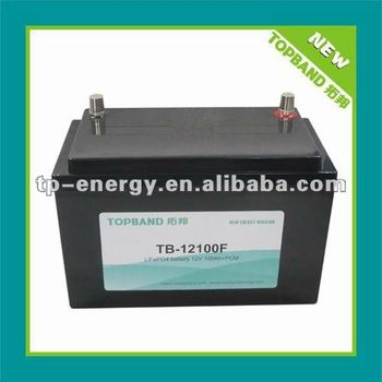 Top selling 12V 100Ah rechargeable lithium ion car starter battery/lifepo4 car battery