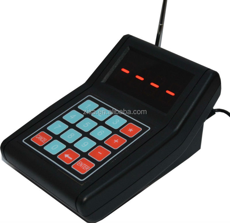 waiter calling system wireless numeric keypad