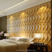 dragon wall covering, Decorative decorative 3d wave wall panels