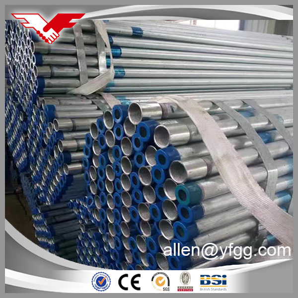 BS31:1940 Threaded hot-dipped galvanized conduit steel pipe price