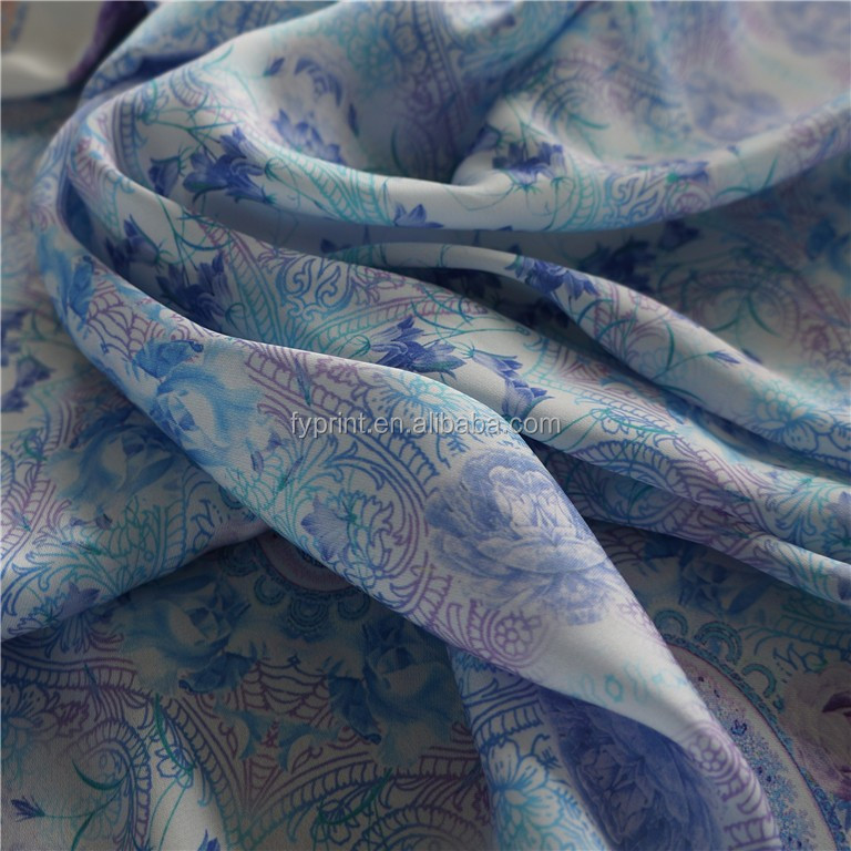 Digital print floral pattern on wholesale fabric as custom design