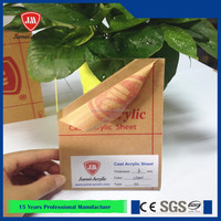 Jumei 10 years' experience new virgin transparent pmma sheet
