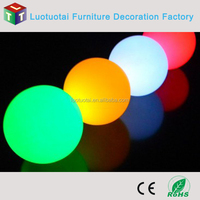 waterproof color changing rechargable led balls outdoor/indoor used