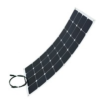 2017 High Efficiency Sunpower 12V 100W Semi Flexible Solar Panel for Caravan