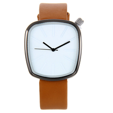 5168 Novelty Design Ultra thin Rectangle Dial Leather Band Simple Fashion Casual Clock sports watch Luxury mens brand watch