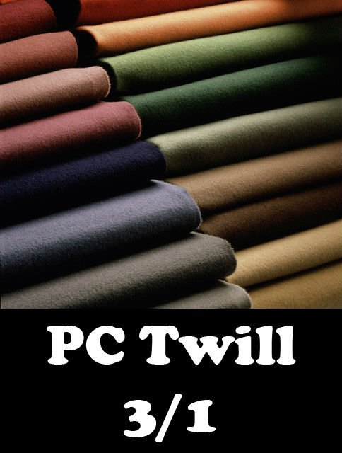 108x58 20x20 - Twill 3/1 - 200 GSM - Dyed/Bleached/Printed/Greige - Any Width
