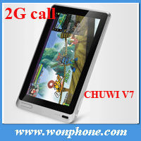 7'' CHUWI V7 Tablet PC Business Edition 2G Phone Call Android 2.3 Capacitive Screen Camera
