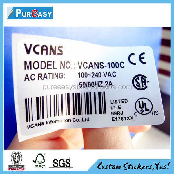 Wholesale high temperature resistant digital label