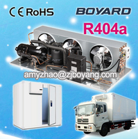 r404a condensing unit for sea water ice maker with boyard hermetic rotary refrigeration compressor
