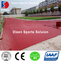 IAAF Certification synthetic polyurethane rubber tratan track price
