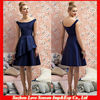 HB0025 A-line bateau sleeveless knee-length cutaway overlay skirt 2014 new design bridesmaid dress