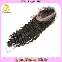 Can make the ponytail can be dyed black and light brazilian full lace wigs