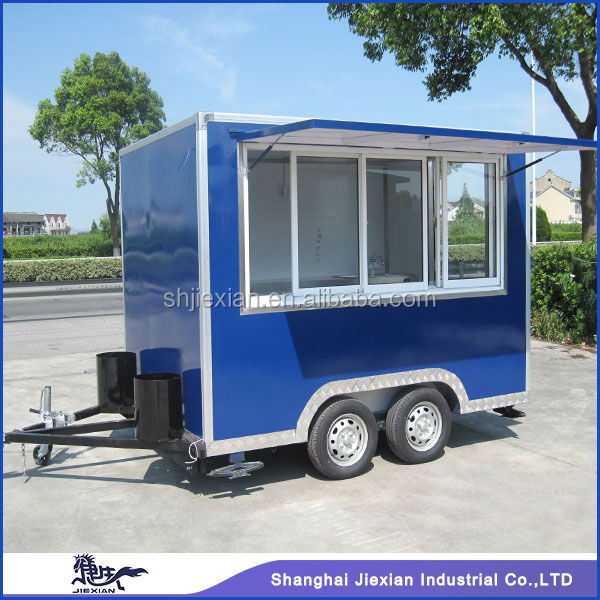 Jiexian Fibreglass Stainless steel Mobile Food Van JX-FS300