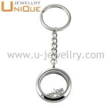 2017 Custom design glass locket fashionable keychain ,metal keychain