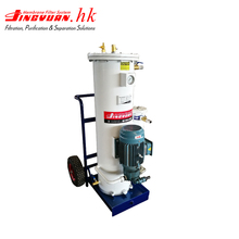 Industrial hydraulic lube oil filter filtration machine