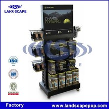 Wholesale flashlight floor display stand/metal torch display stand
