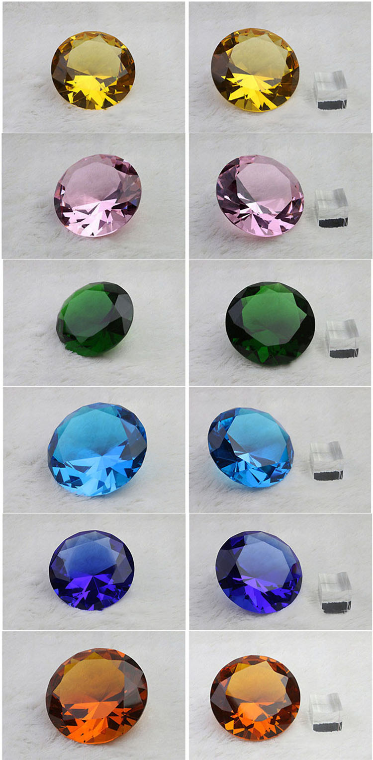 Optical Clear K9 Crystal Glass Diamond Paperweight Wholesale transparent Crystal Diamonds