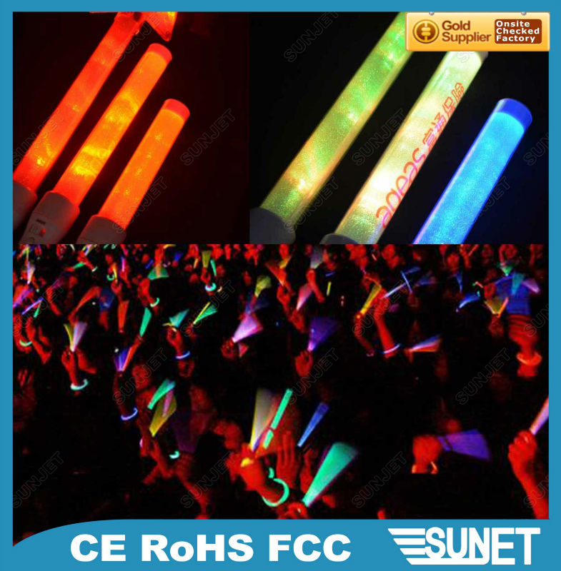 2016 Sunjet party giveaways cheering glow sticks party pack