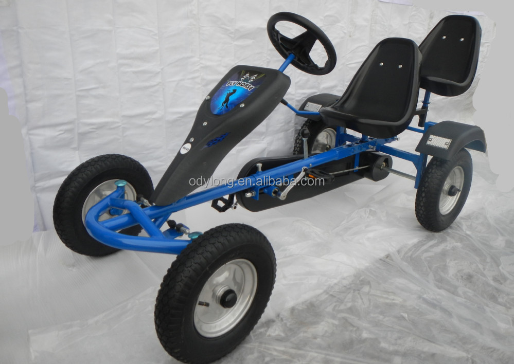 2 seat cheap go kart for sale,cheap adult adult two seats two people pedal go kart F160AB