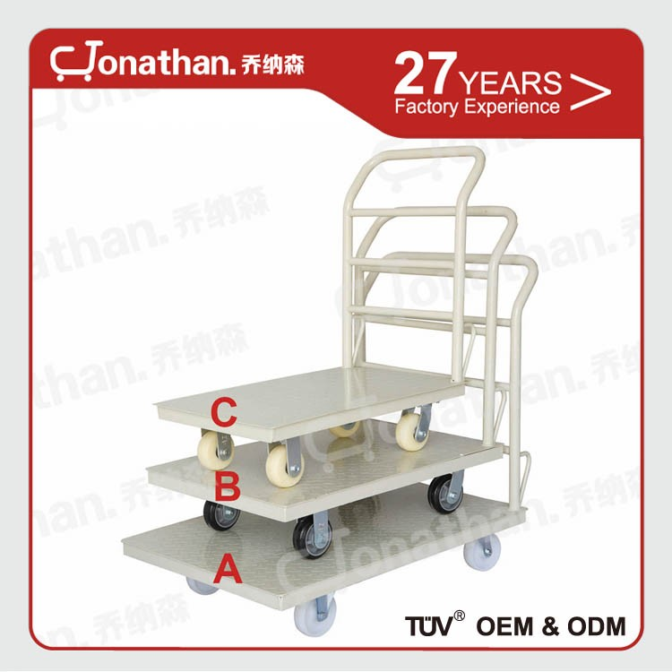 Pallet trolleyB heavy duty Steel rolling pallet trolley with wheels