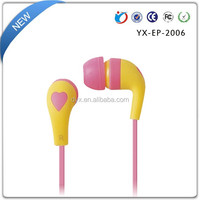 2016 top selling new candy color in ear earphone with low cost for promotion