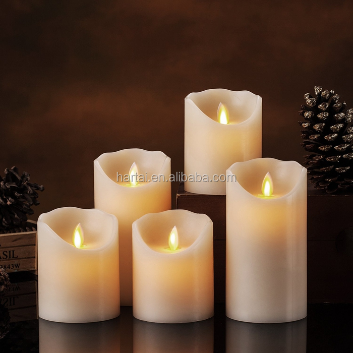 2017 Heart shape pure paraffin wax led tealight candle