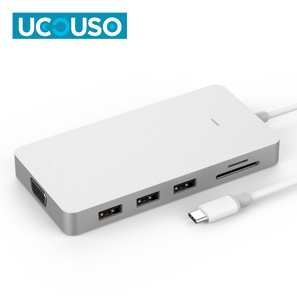 Multi Function USB C HUB with Type c 3.1 card reader 4K display 3.1 Type-C HUB support <strong>U</strong>-disk SD card and <strong>1080P</strong> for macbook