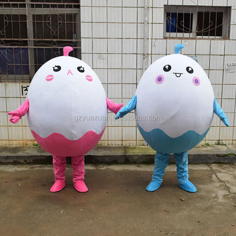 Very cute plush cartoon egg doll costumes for sale