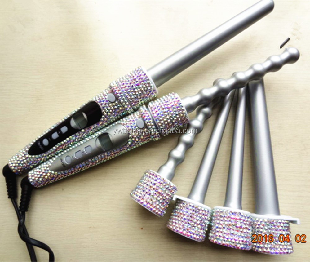 crystal Custom professional hair styler curler with 5p barrels