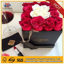 Luxury round cylinder or rectengle flower packaging paper box for flower with hat