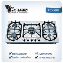 hot sale Stainless steel 5 burners cooking gas stove/Kitchen Appliances