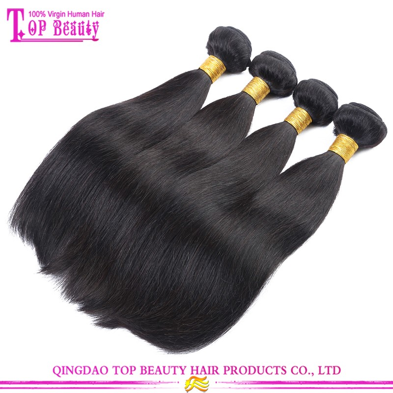 Raw Unprocessed Straight Virgin Peruvian Hair 100% Remy Hair Bundles 7A Peruvian Virgin Straight Hair