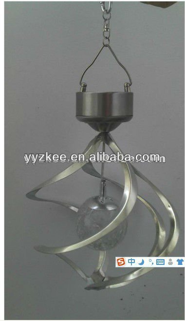 Solar wind turbines lamp // decorative lamp