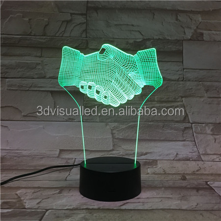 3D visual creative multi-color changing LED night light