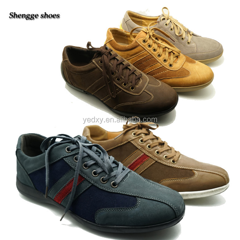 great workmanship durable and lightweight sports use genuine leather tennis sports shoes for men