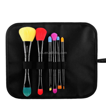 New arrival 6pcs double ended colorful makeup brushes