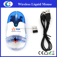 2.4G cordless rechargeable mouse with aqua inside GET-MLQ10