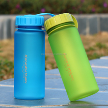 Factory direct supply 600ml Tritan frosted water bottles free samples bpa free, bottled water brand names